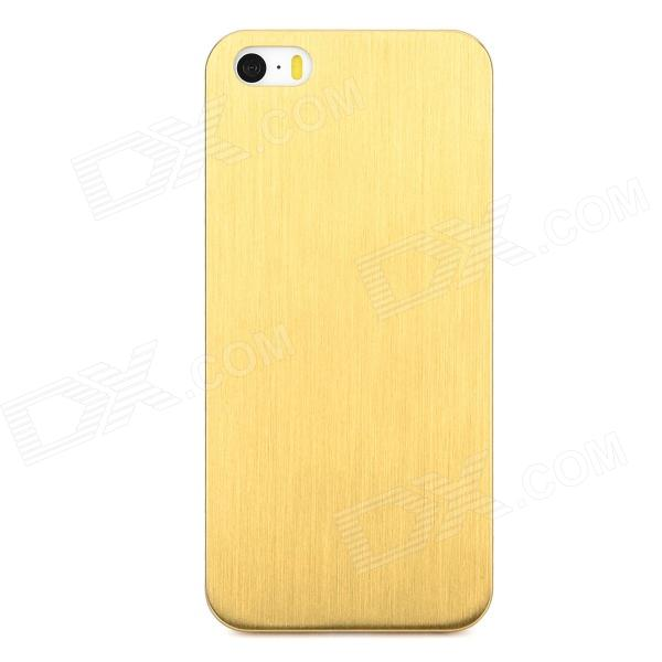 Protective Titanium Alloy Back Case for Iphone 5 / 5s - Golden + Black