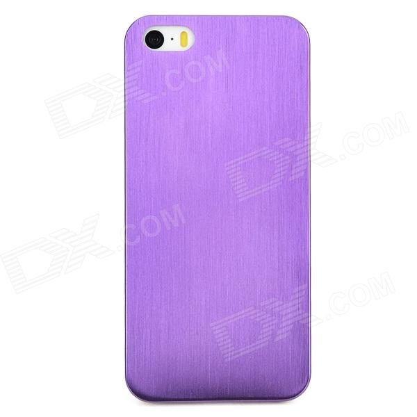 Protective Titanium Alloy Back Case for Iphone 5 / 5s - Purple