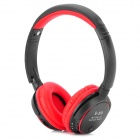 b-370 Bluetooth V3.0 Headband Earphone w/ Microphone / TF / FM for Iphone - Black + Red