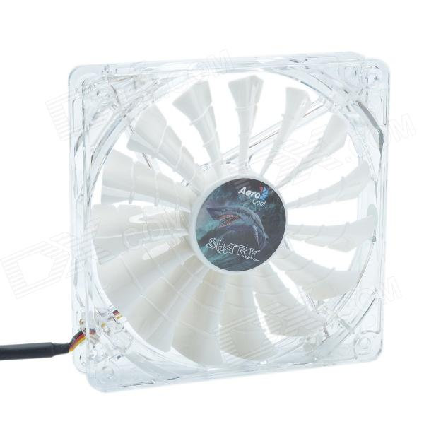 AEROCOOL 15-Blade 1.56W Mute Model Computer CPU Cooling Fan - White (12 x 12cm / 7V) aerocool 15 blade 1 56w mute model computer cpu cooling fan white 7v 14 x 14cm