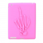 Skeleton Hands Pattern Protective Silicone Case for Ipad 4 - Pink