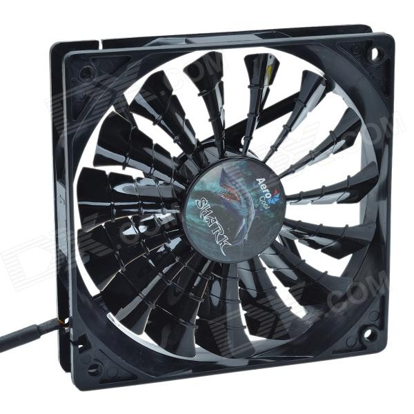 AEROCOOL 15-Blade 1.56W Mute Model Computer CPU Cooling Fan - Black (12 x 12cm / 7V) aerocool 15 blade 1 56w mute model computer cpu cooling fan white 7v 14 x 14cm