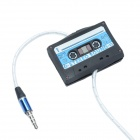Unique Mini Cassette Tape Shaped Earphone Cables Organizer / Winder - Black + Blue