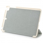 Cross Pattern Protective 3-Fold PU Leather + TPU Case for Ipad MINI / Ipad MINI 2 - White