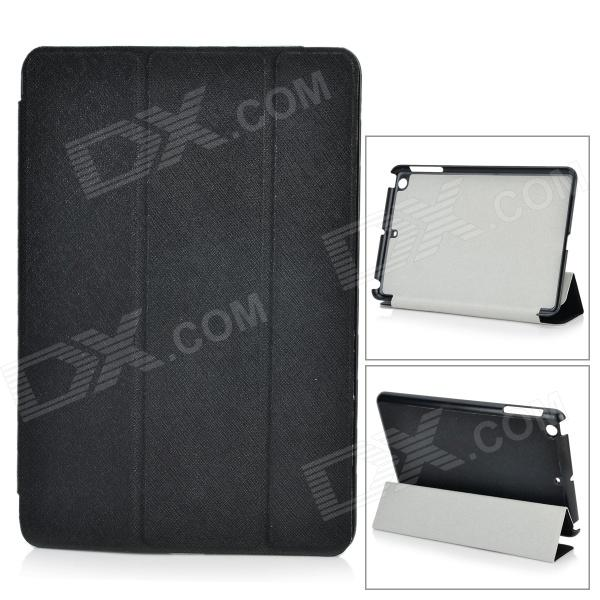 Protective PU Leather + TPU Case w/ Auto Sleep for IPAD MINI / Retina IPAD MINI - Black for ipad mini