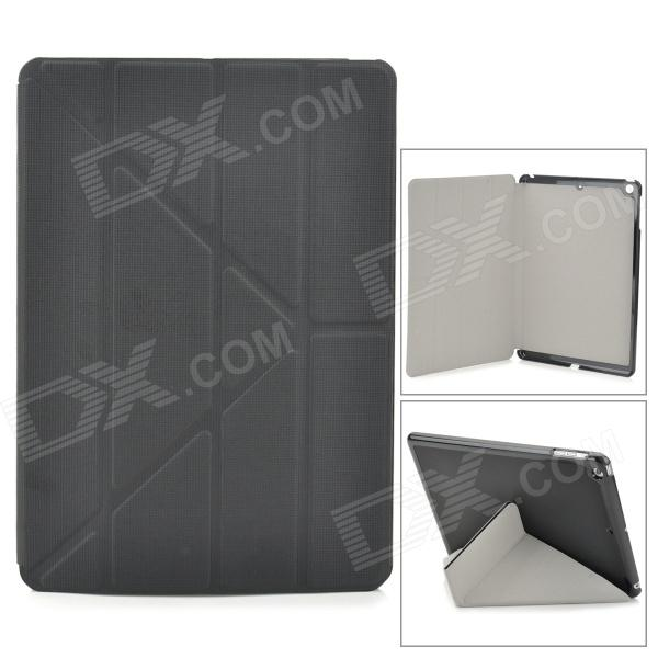 Protective PU Leather + Plastic Case for Ipad AIR - Black