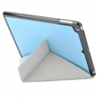 Transformable Protective PU Leather + Plastic Case for IPAD AIR - Blue