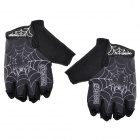 QEPAE F036 Outdoor Sports Cycling Anti-Slip Breathable Half-Finger Gloves - Black (Size L)