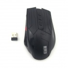 Unique FCN-F5 800/1600/3200 dpi 2.4 G Wireless Gaming Mouse w / 6D / gauche roue - noir (2 x AAA)