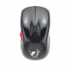 FCN F2 2.4G Wireless 1600dpi Optical Mouse w/ 4D / Left Wheel - Black (1 x AAA)