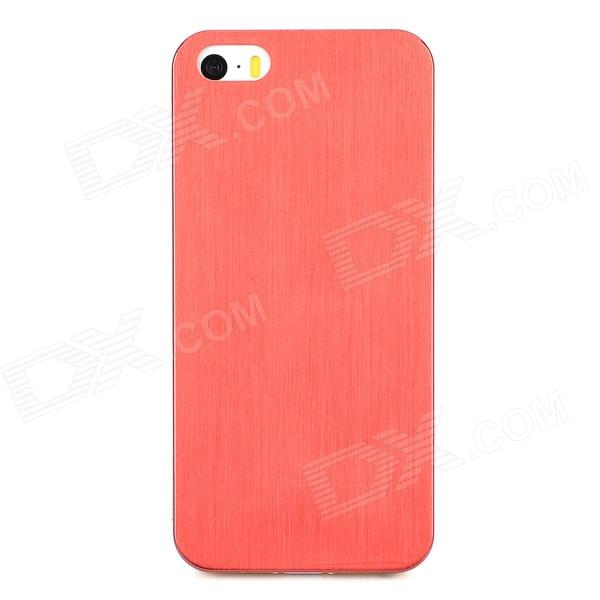 Protective Titanium Alloy Back Case for Iphone 5 / 5s - Red roar korea noble leather view stand card slot case for iphone 7 plus rose