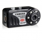 "T8000 Multi-functional 1/2.7"" CMD Mini Digital Video Camera w/ TF - Black"