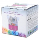 YBH-S03 Crown Style Mini Crystal Colorful Light Speaker w/ FM Radio / TF Slot - Deep Pink