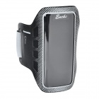 Stylish Neoprene + PVC Velcro Armband for Iphone 5 / 5s / 5c - Grey + Black