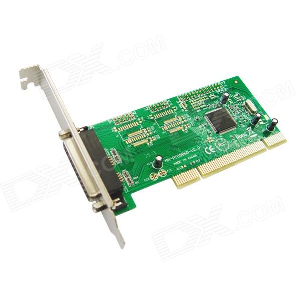 IOCREST Moschip 9865 Chipset 1 Parallel Printer Port (LPT1) PCI Controller Card - Green