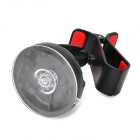 Universal 360 Degree Rotary Car Holder w/ Suction Cup - Black + Red