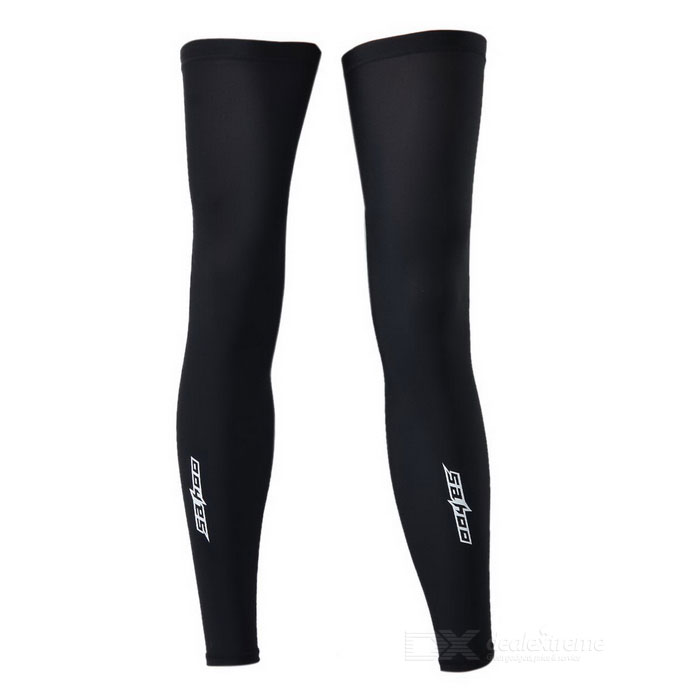 SAHOO 45618 Bike Cycling Leg Warmer Sleeve - Black (Size XXL / Pair)
