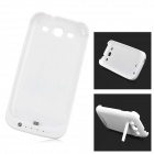 Portable External 2200mAh Battery Back Case w/ Stand for Samsung i9300 - White