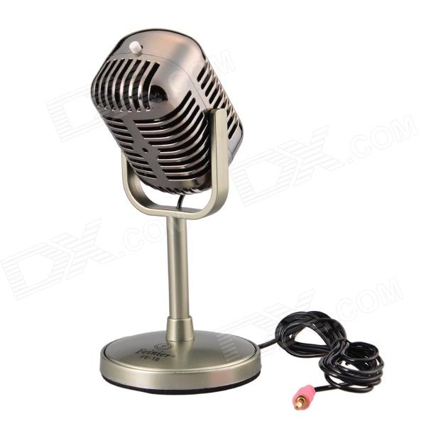 Feinier FE-18 Microphone for Computer- Greyish-Green (3.5mm Plug / 173cm-Cable)