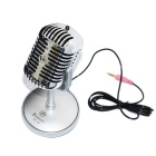 Feinier FE-18 Microphone for Computer - Silver (3.5mm Plug / 173cm-Cable)