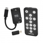 MHL to HDMI Adapter w/ Remote Controller w/ RCP Adapter - Black + White