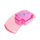 RF-6290 2.4GHz 3200DPI Cute Mini Wireless Optical Mouse - Translucent Pink + Pink (1 x AAA)