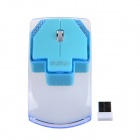RF-6290 2.4GHz 3200DPI Cute Mini Wireless Optical Mouse - Transparent Blue + Blue (1 x AAA)