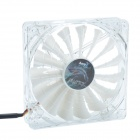 AEROCOOL 15-Blade 1.56W Mute Model Computer CPU Cooling Fan - White (7V / 14 x 14cm)