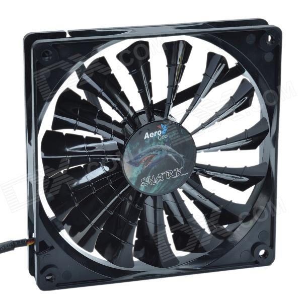 AEROCOOL 15-Blade 1.56W Mute Model Computer CPU Cooling Fan - Black (7V / 14 x 14cm) aerocool 15 blade 1 56w mute model computer cpu cooling fan white 7v 14 x 14cm