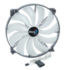 AEROCOOL 11-Blade 3W Mute White 4-LED Computer CPU Cooling Fan - White (12V / 20 x 20cm)