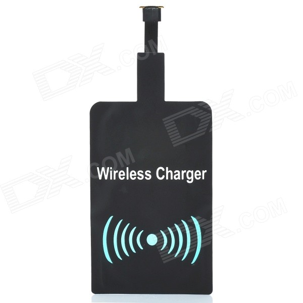 A5 Qi Micro USB Wireless Charger Receiver Module - Black + White positive qi wireless charger pad universal wireless receiver for micro usb cellphone white