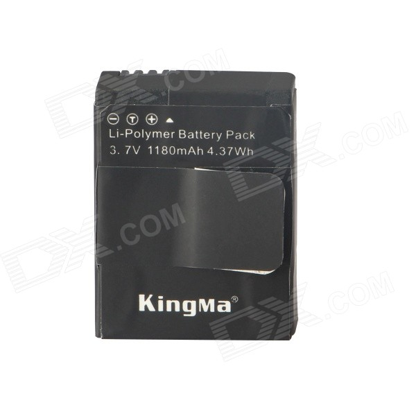 Kingma AHDBT-302 1180mAh Li-polymer Battery for GoPro3 / GoPro3+ - Black