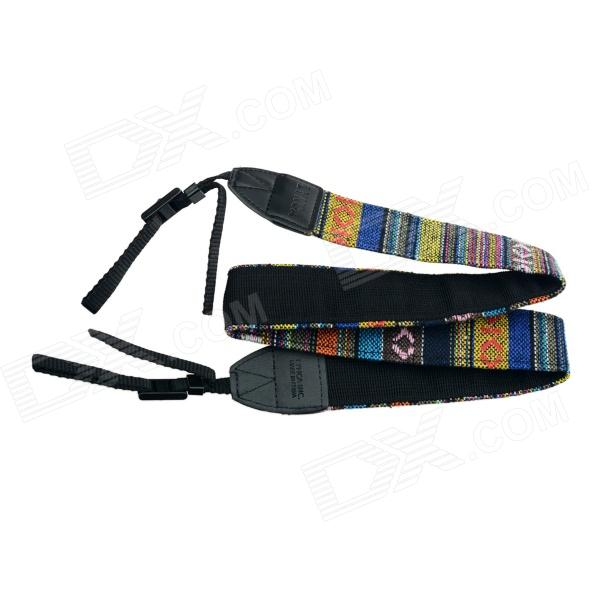 Multicolored Anti-Slip Nylon Shoulder Strap for SLR DSLR Camera - Black multicolored anti slip nylon shoulder strap for slr dslr camera black