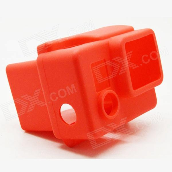 BZ98 High Quality Silicone Protective Case for GoPro Hero3+ / Hero3 - Red