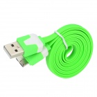 USB 2.0 to Micro-B 9-Pin Data Charging Cable for Samsung Galaxy Note 3 - Green + White