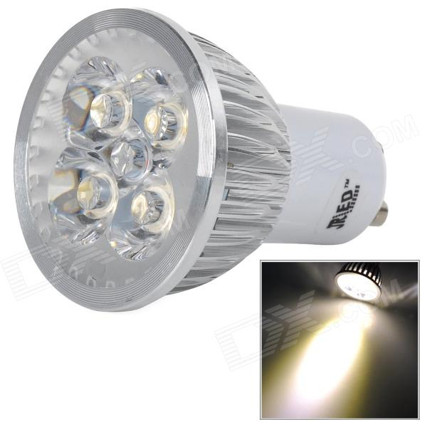 JRLED JR-LED-GU10-4W-WW GU10 4W 350lm 4-LED Warm White Spotlight - Silver + White gu10 4w 350lm 6100k 4 cree xpe led white light spotlight silver ac 85 265v