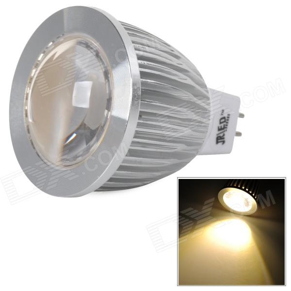 JRLED JR-LED-MR16-5W-WW GX5.3 COB 3000K 300lm Quente Spotlight Branco - Prata + Branco (DC 12V)