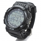 TREKMATE GL-002 Outdoor Water Resistant Sports Digital GPS Wrist Watch - Black