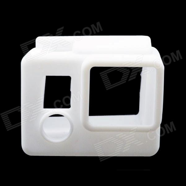 BZ98 High Quality Silicone Protective Case for GoPro Hero3+ / Hero3 - White