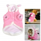 JUQI Cute Rabbit Style Cotton Pet  Apparel Clothes for Dog / Cat - Pink + White (Size XL)