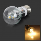 Lexing LX-QP-11 E27 3W 190lm 3500K 6-SMD 5730 LED Warm White Light Bulb (85 ~ 265V)