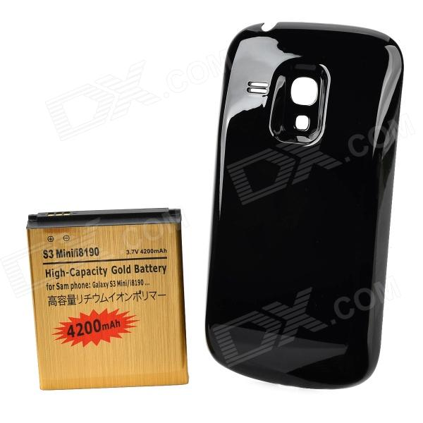 "3.7V Batterie ""4200mAh"" w / Plastic Back Case pour Samsung Galaxy S3 mini / i8190"