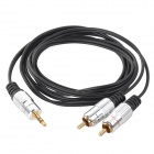 3.5mm macho a 2 RCA audio masculino de Split cable - Negro + Plata
