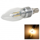 E14 4W 250lm 3200K SMD 2835 20 LED Warm White Candle Light - Silver (AC 85~265V)