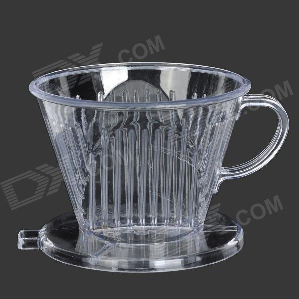 Coffee Powder Drip Filter Cup - Transparent gift box set handleless pot pillar cup filter cup drip coffee maker grinder home use can send a person top grade coffee gift box