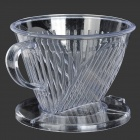Coffee Powder Drip Filter Cup - Transparent