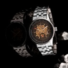 mce 01-0060044 Fashion Steel Casing + Steel Wristband Mechanical Movement Wrist Watch for Men