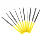 LODESTAR L615310 Carbon Steel + PVC + PE File Set - Yellow (10 PCS)