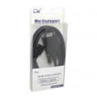 CY Left Angled 90' Mini DisplayPort DP Male to VGA RGB Male Cable for Monitor / Projector - Black
