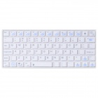 BYLINK Kb07 Mini Portable Bluetooth V3.0 74-Key Keyboard for Smart Phone / Tablet PC -White (2 x AA)